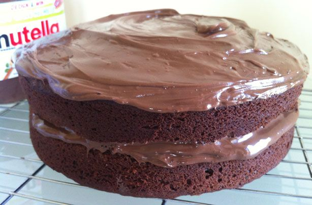 Nutella chocolate cake recipe - goodtoknow... If you're a massive Nutella fan you're going to love this recipe. A rich chocolate sponge cake made with Nutella and topped with, you guessed it, more Nutella! ...