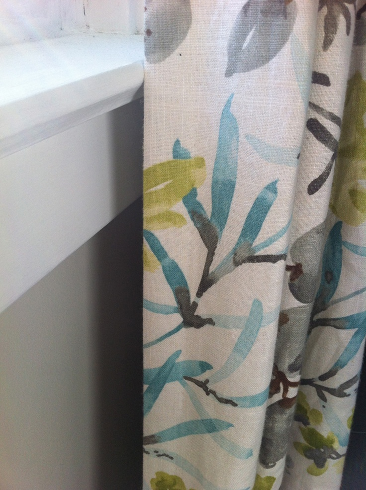 Drapes The Love Affair Of Watercolor With Chartreuse Turquoise Grey Goes On Curtains
