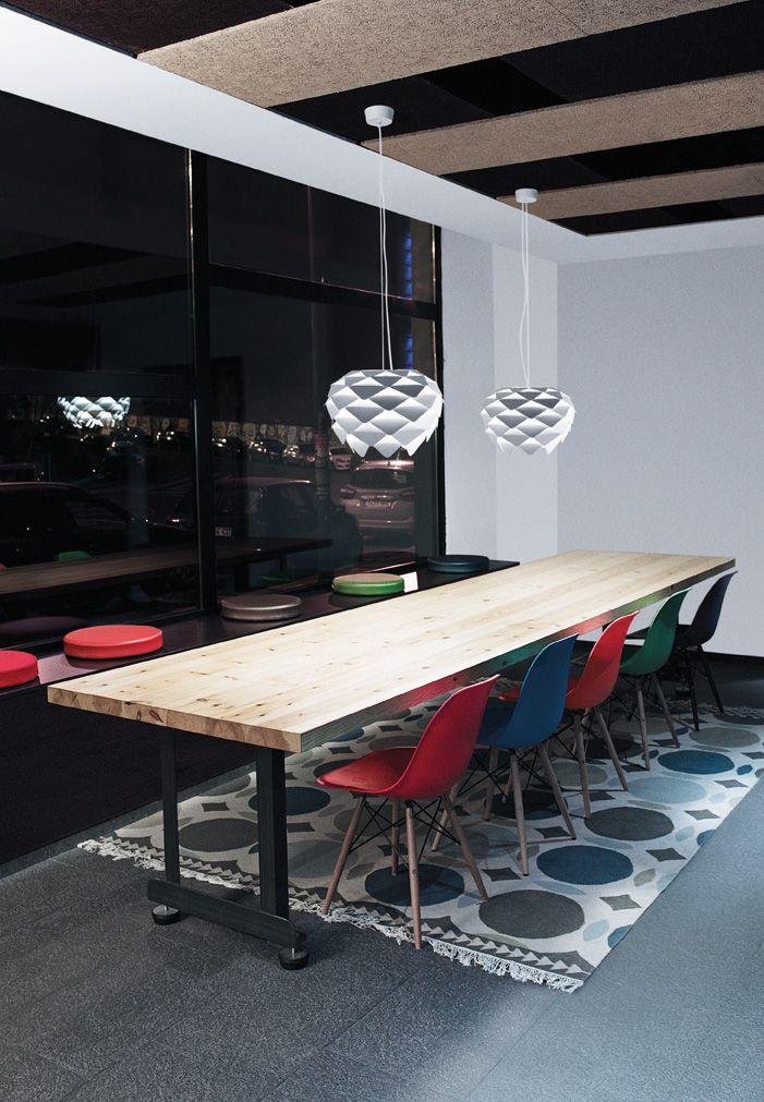 Phi suspension #lamp by @davidabad for B.lux at Hotel Holiday Inn, #Bilbao. #lighting
