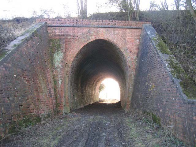 Railway - Old embankment tunnel