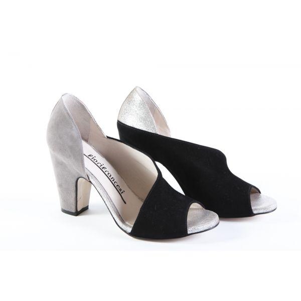 Sandalo in Camoscio, Fiori Francesi