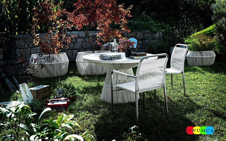 Outdoor / Gardening:Outdoor Design Trends 2014 Summer Furniture Decor Hot Tub Design Outdoor Sofa Chairs Cushions Table Ideas Backyard Lighting Landscape Tibidabo Cocktail Tables And Dining Set In White Newest Hot Outdoor Design Trends For Summer 2014