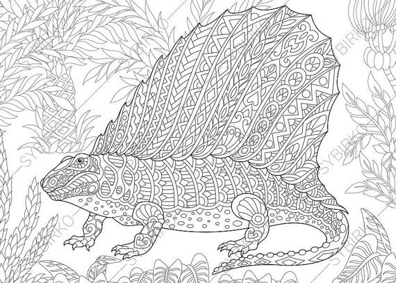 17 best images about coloring is the best therapy on pinterest dovers mandala coloring and - Mandala dinosaure ...