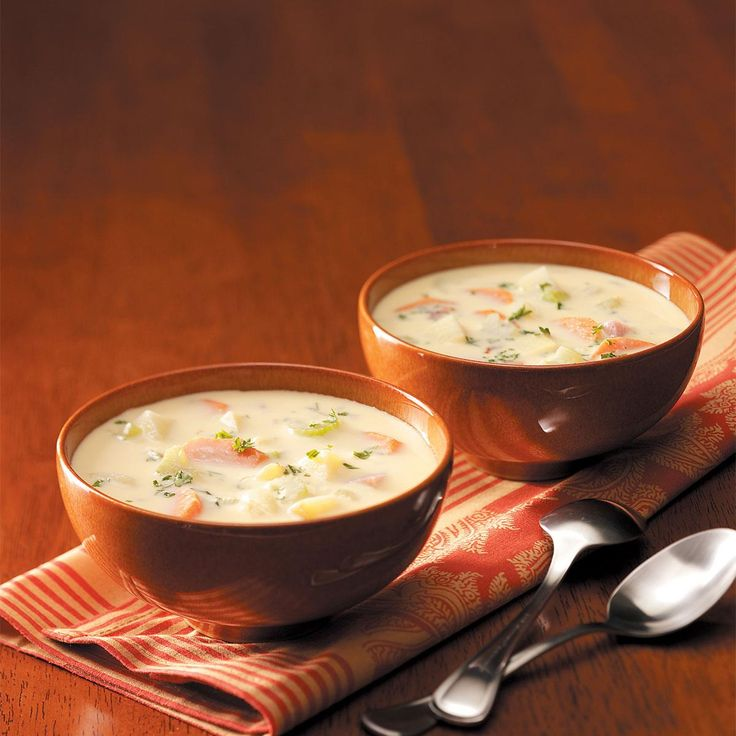 Golden Potato and Ham Soup Recipe -I have requests for this soup for lots of family events and especially deer camp. If you're in the mood for comfort food, this is the recipe for you! —Shelly Woods, Blissfield, Michigan