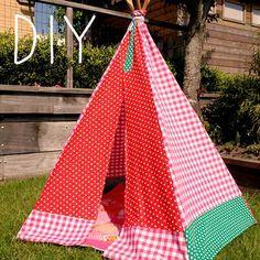 Tipi om zelf te maken voor je kids: stokken, stofjes en naaien maar!