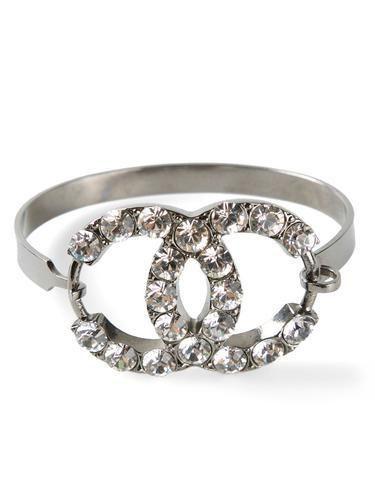 CHANEL VINTAGE interlock bracelet #jewelry #chanel #women #designer #covetme #chanelvintage