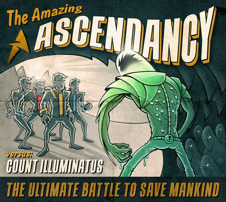 Ascendancy — Count Illuminatus vs The Amazing Ascendacy (art by Maťo Mišík www.matomisik.com)  #cdcover #albumartwork #albumart #coverart