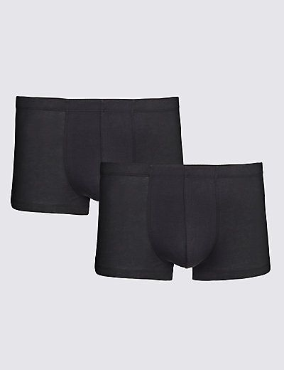 £20 2 Pack 4-Way Stretch Supima® Cotton Hipsters | M&S (David Gandy)