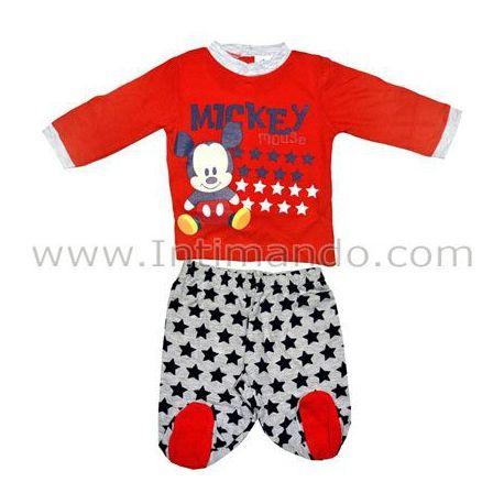 Tutina neonato Disney baby, composta da pantalone con elastico e polsini e shirt con stampa di Topolino, 5 bottoni dietro, in jersey cotone.  http://www.intimando.com/it/tutine-neonato-cotone/2956-disney-baby-wd-101088.html