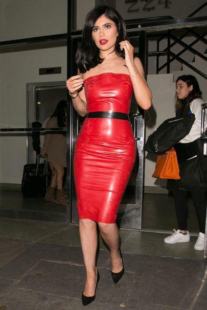 Vinyl trend; Celebrities wearing latex dresses, trousers | Glamour UK