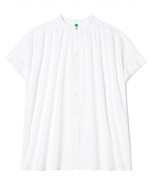 """Купить Рубашка с воротником """"мандарин"""" Белый для Рубашки И Блузы в официальном интернет-магазине United Colors of Benetton."""