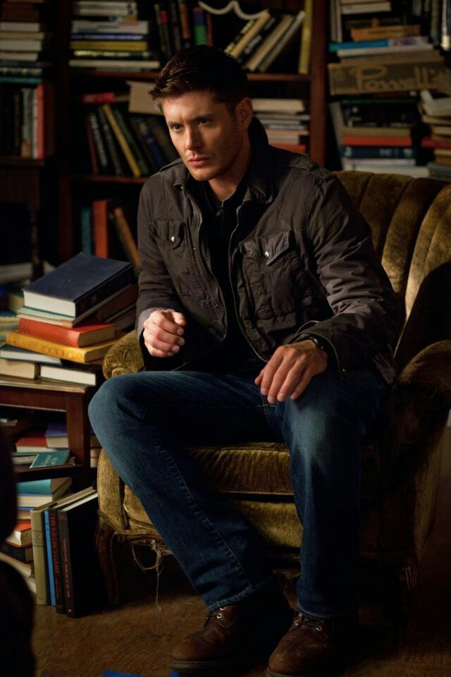 Supernatural. Dean, right where I want him, surrounded by books.
