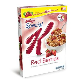 Enjoy Special K® Red Berries Cereal, crispy rice and wheat flakes with slices of real strawberries.