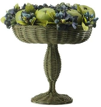 Mini Magnolia in Rattan Basket traditional baskets