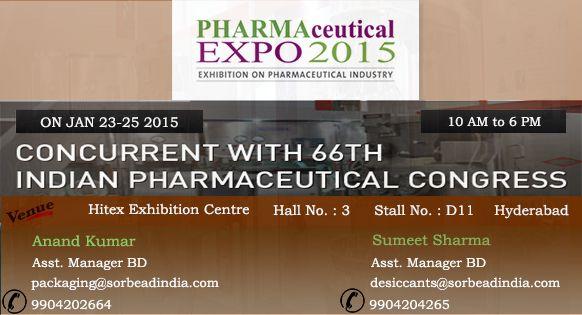 PHARMA EXPO 2015 in Hyderabad