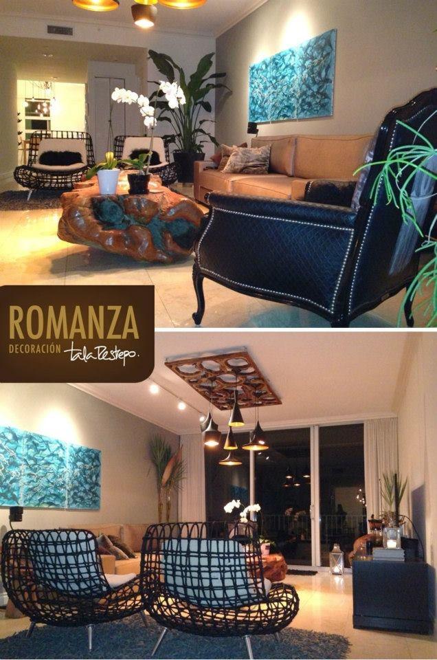 """""""Decoración al estilo Romanza"""", exclusivo, con mucha personalidad, así quedó este lindo apartamento decorado por Tala Restrepo con objetos de Romanza #decoracion"""