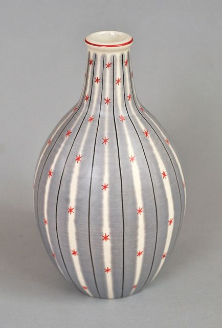 Poole pottery Freeform carafe vase by robmcrorie,