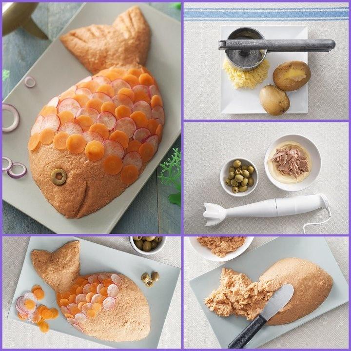 pesce di tonno e patate