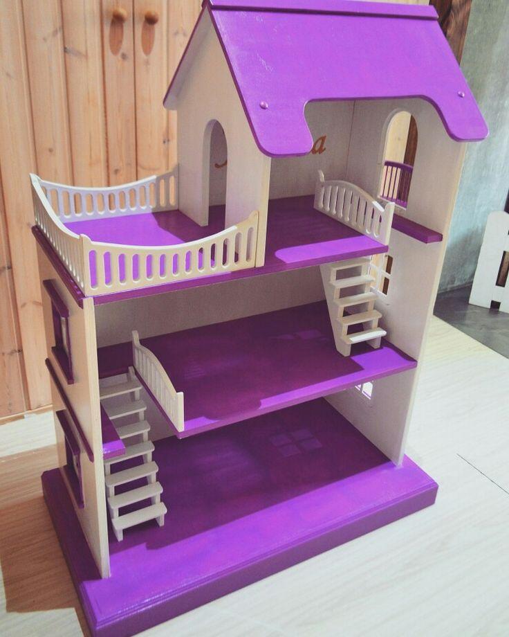 """Кукольный домик из дерева. Детская мебель и декор от мастерской """"Wood Luck""""."""