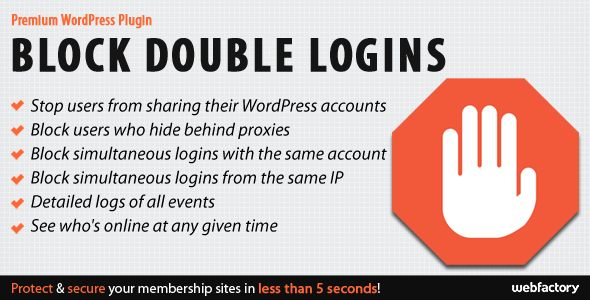 Block Double Logins - Protect Your WordPress Membership Sites