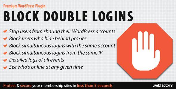 Block Double Logins - Protect Your WordPress Membership Sites
