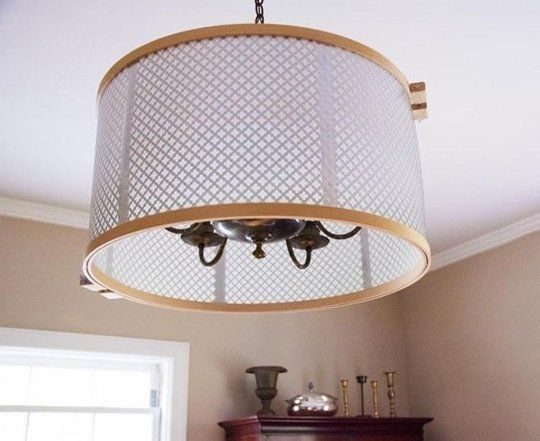 Diy Ways To Mask Awful Rental Lighting Drum Shade