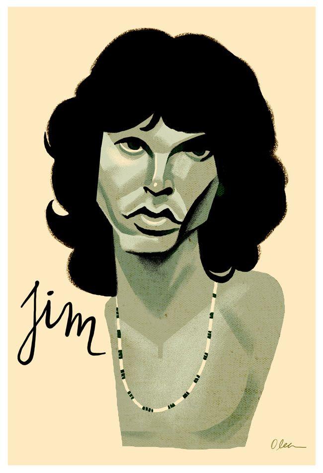 Jim Morrison/ musician/ by Francisco Javier Olea