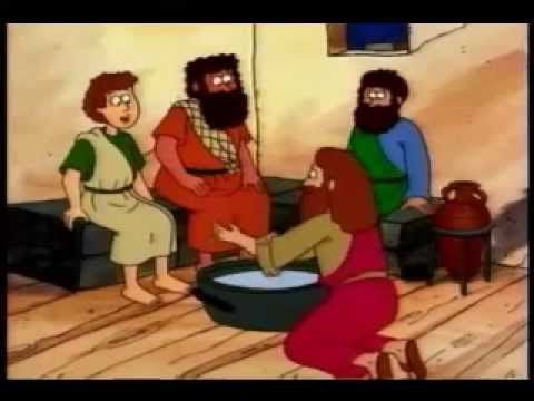 Jesus Washes The Feet Of His Disciples - Bible Stories For Children - YouTube