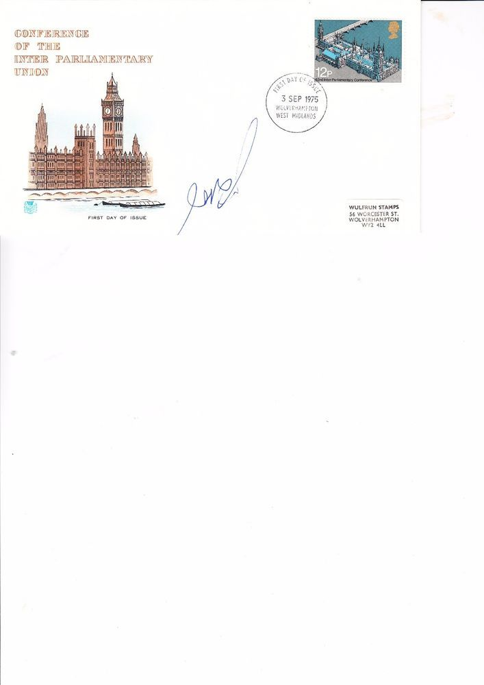 YITZHAK SHAMIR (ISRAELI PRIME MINISTER) AUTOGRAPHED FIRST DAY COVER