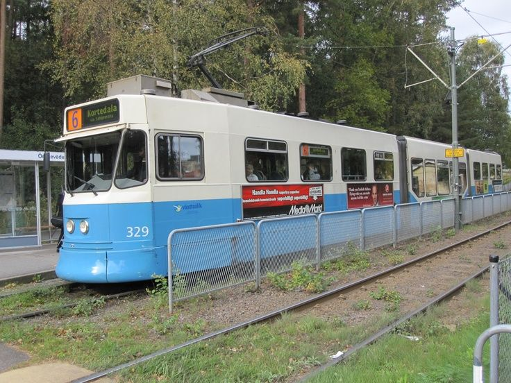 Tram number 6 in Biskopsgården, Hisingen, Götebo…