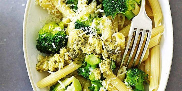Penne mit Broccoli-Pesto