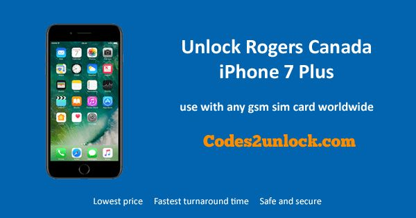 How to Factory Unlock your Rogers Canada iPhone 7 Plus easily, safely and permanently via IMEI through Official Apple iTunes. Unlocking Rogers Canada iPhone 7 Plus on any IOS & baseband version. Your iPhone will be unlocked even after firmware updates.