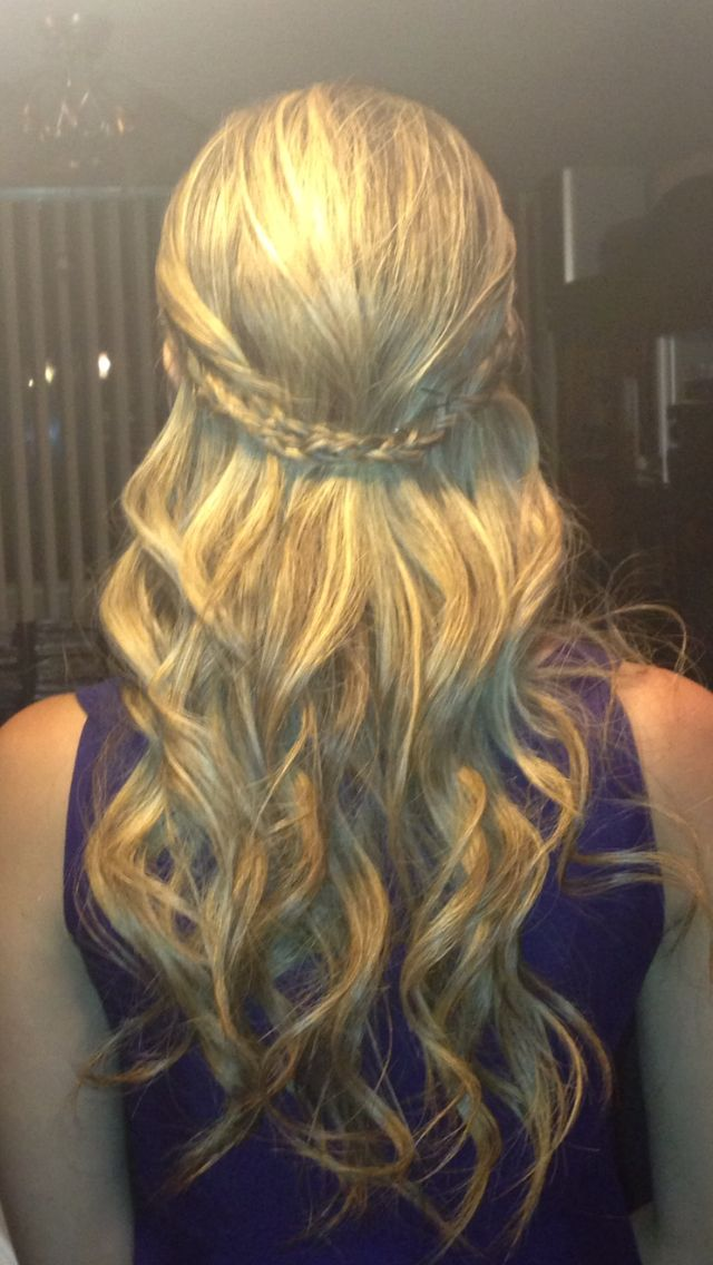 Curly Braided Half Updo Hairstyles By Me Pinterest