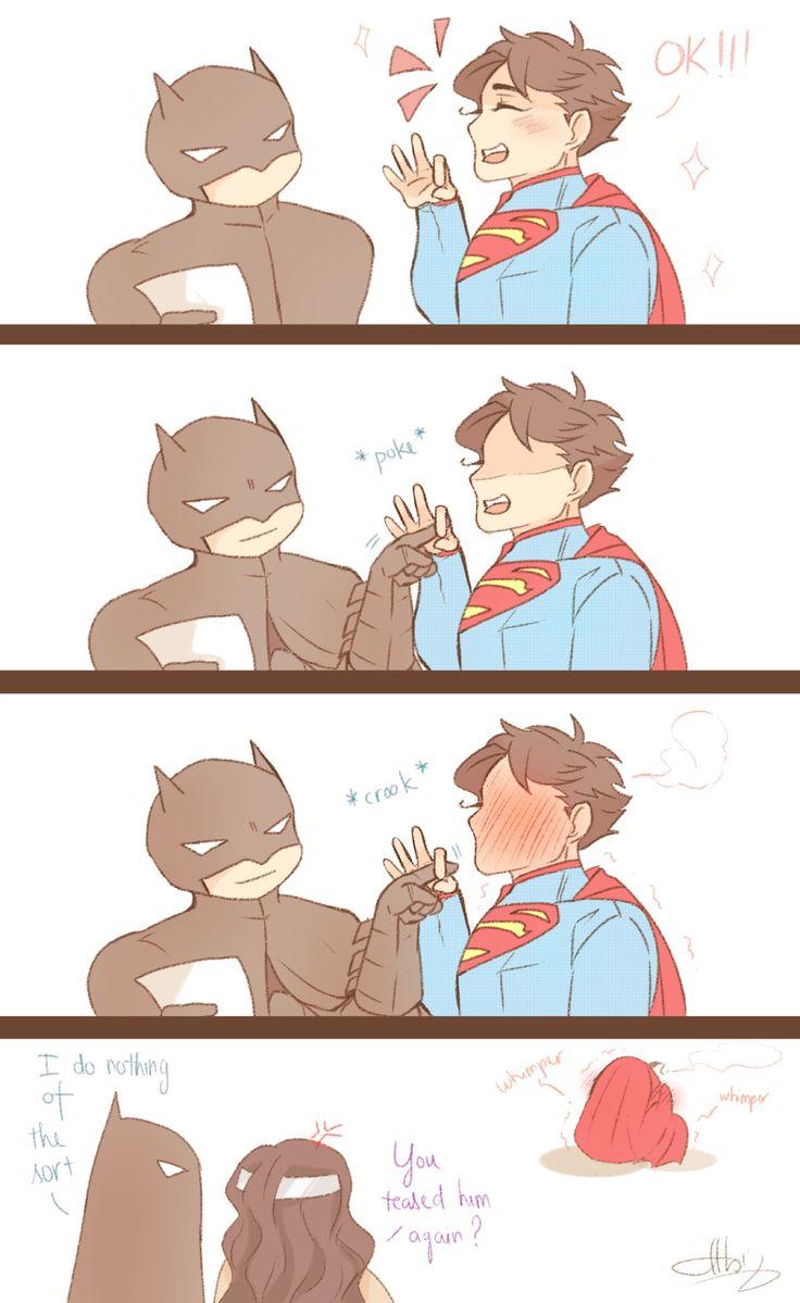 superbat | Tumblr; LOL, poor Supes! :3