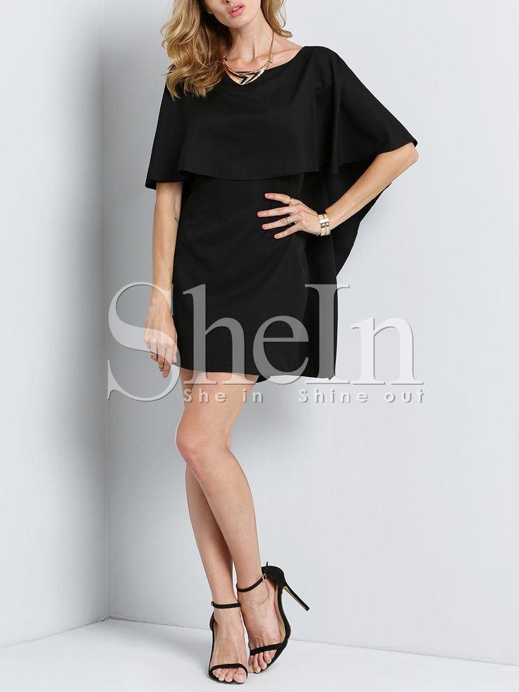 Shop Black Flutter Batwing Sleeve Glamorous Backless Dress online. SheIn offers Black Flutter Batwing Sleeve Glamorous Backless Dress & more to fit your fashionable needs.