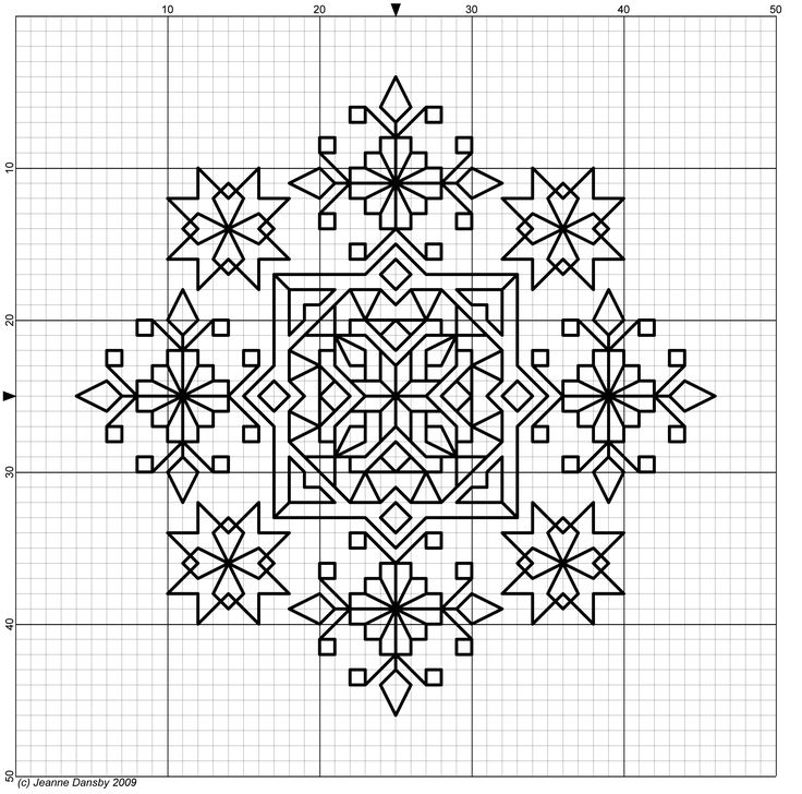 Free blackwork pattern #stitching