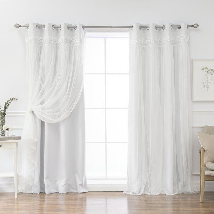 August Grove Loar Solid Blackout Thermal Grommet Curtain Panels