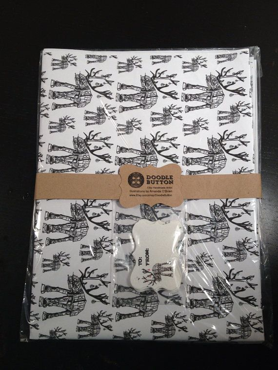 Star Wars ATAT Reindeer Wrapping Paper by DoodleButton on Etsy
