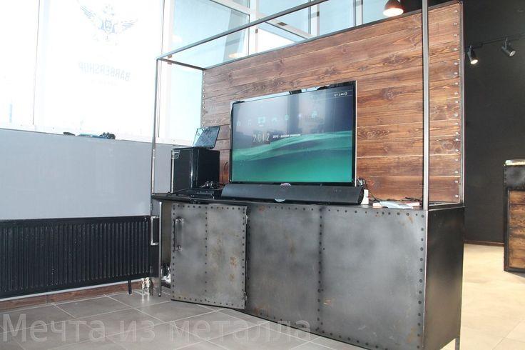 Комод из металла loft industrial