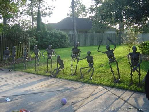 ghosts skeletons and skull for halloween decoration shelterness - Funny Halloween Decorations