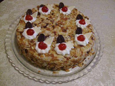 Γεύσεις της Εύβοιας: Τούρτα αμυγδάλου ...χειροποίητη και κλασσική