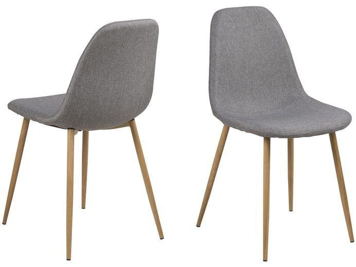 Krzesło Wilma I szare nogi drewniane Actona
