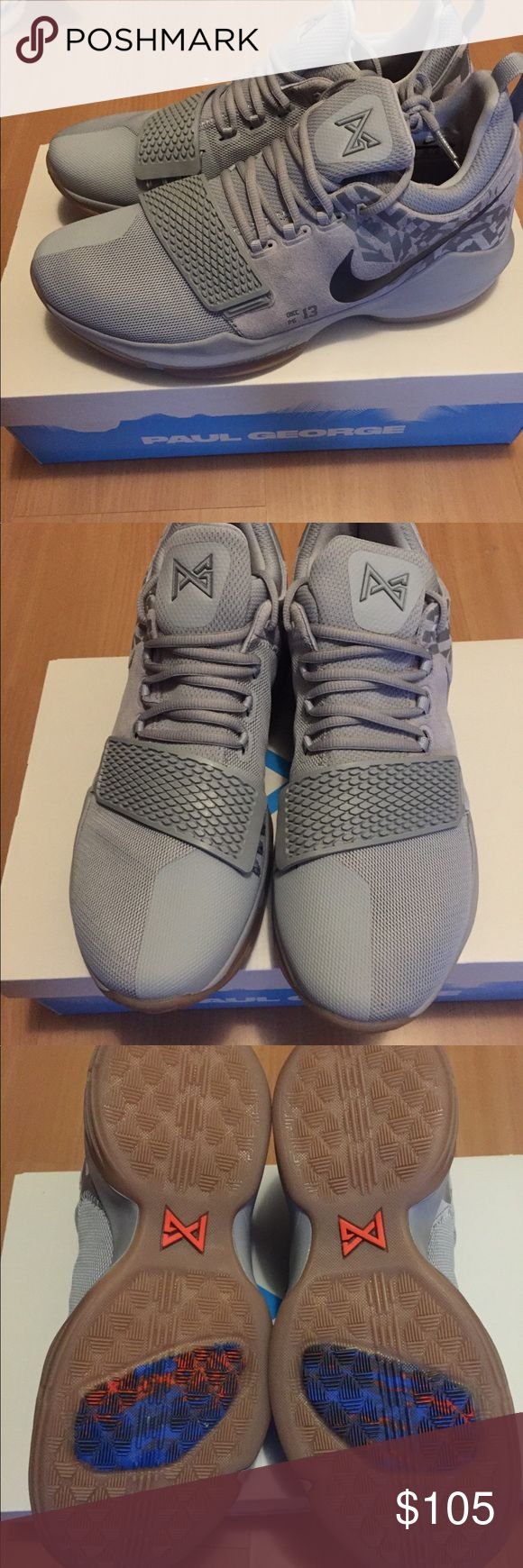 Brand new Pg1 Paul George Grey 11 Brand new Pg1 Paul George Grey 11. Size 11. Brand new in box, never worn Nike Shoes Sneakers