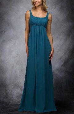 Floor-length Chiffon Square Ruffles Bridesmaid Dresses