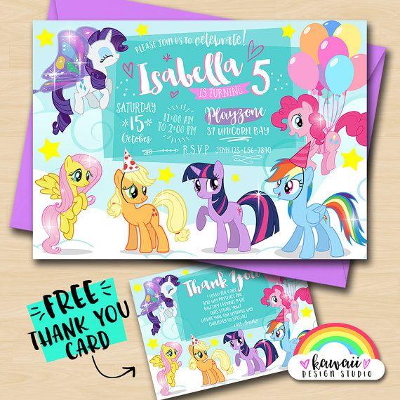 Mi pequeño Pony  My Little Pony  gratis gracias invitación