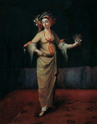 İstanbullu Rum Kadın / Greek Woman from İstanbul  Vanmour Okulu / Vanmour School