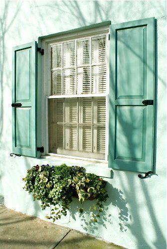 new bedroom window overlooking garden should have lovely green shutters