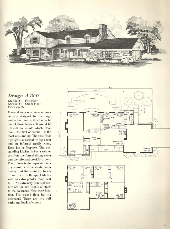 146 best vintage house plans 1970s images on pinterest for 1970s house floor plans