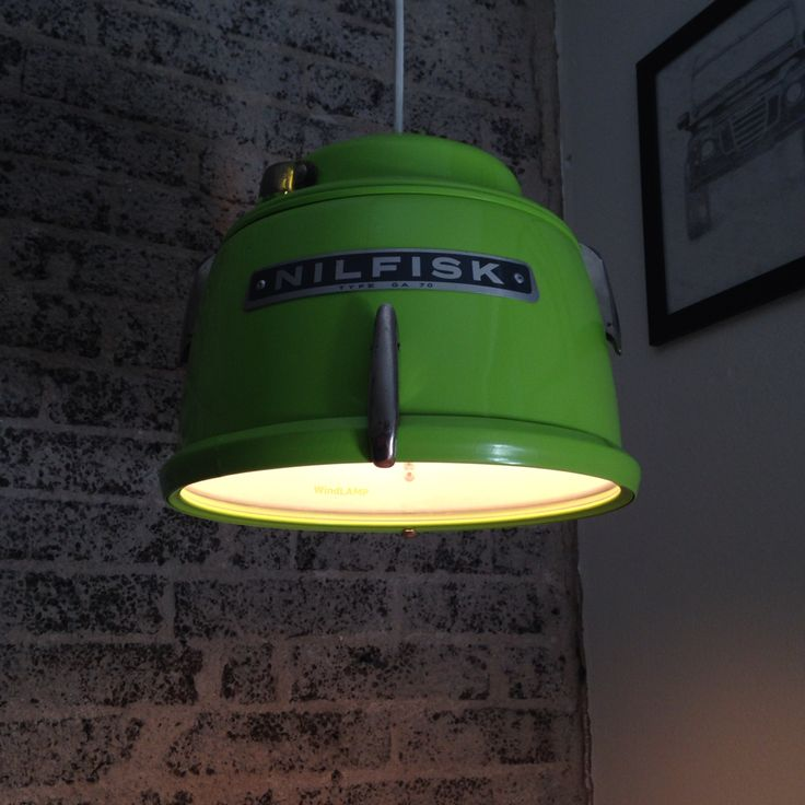 Nilfisk Lamp. From vacuum cleaner to lamp #WindLAMP - Danish Design