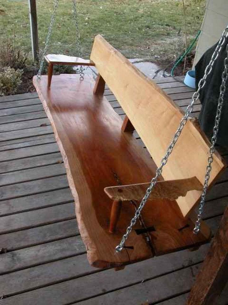 Charming Porch Swing Idea 21
